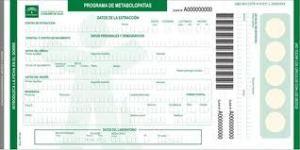 prueba del talón formulario